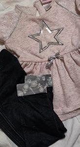 Pink & black 2 piece girls set